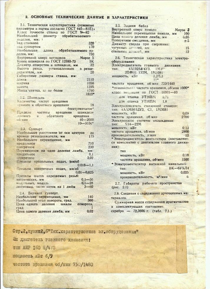 ПАСПОРТ НА ТОКАРНЫЙ СТАНОК УТ-16 ПМ СКАЧАТЬ БЕСПЛАТНО